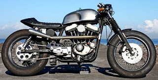tropical sportster cafe racer side left