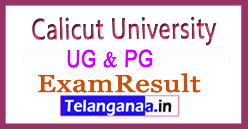 Calicut University UG PG (BA / MA / BDS) Result 2018