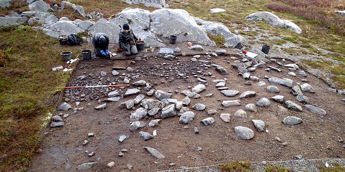 Campamento reutilizado en Mohalsen (Vega, Nordland, Noruega)