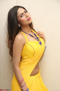 Nishigandha in Yellow backless Strapless Choli and Half Saree Spicy Pics 093.JPG