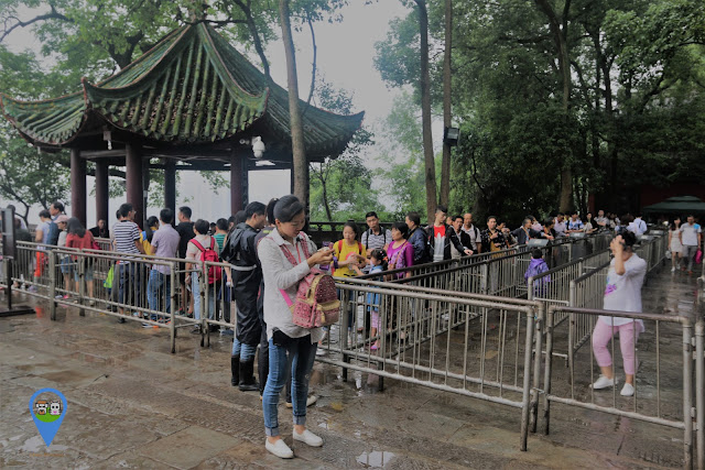 Expecting long queue on weekends and during public holidays at Leshan Giant Buddha in Sichuan province of China