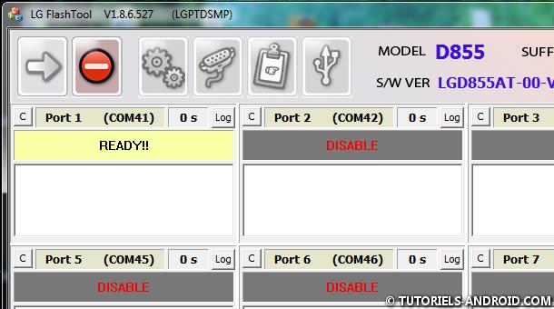 Message (READY) LG Flash Tool