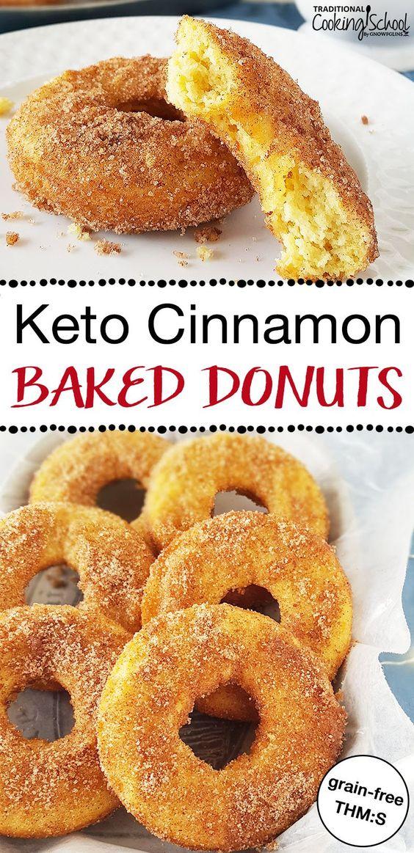 Keto Cinnamon Baked Donuts