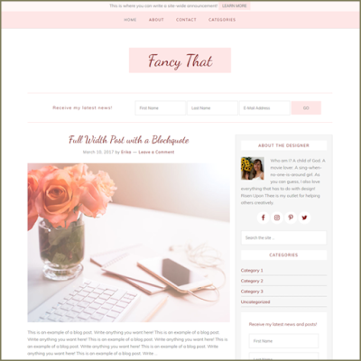 Theme giveaway: Win a free theme for your blog