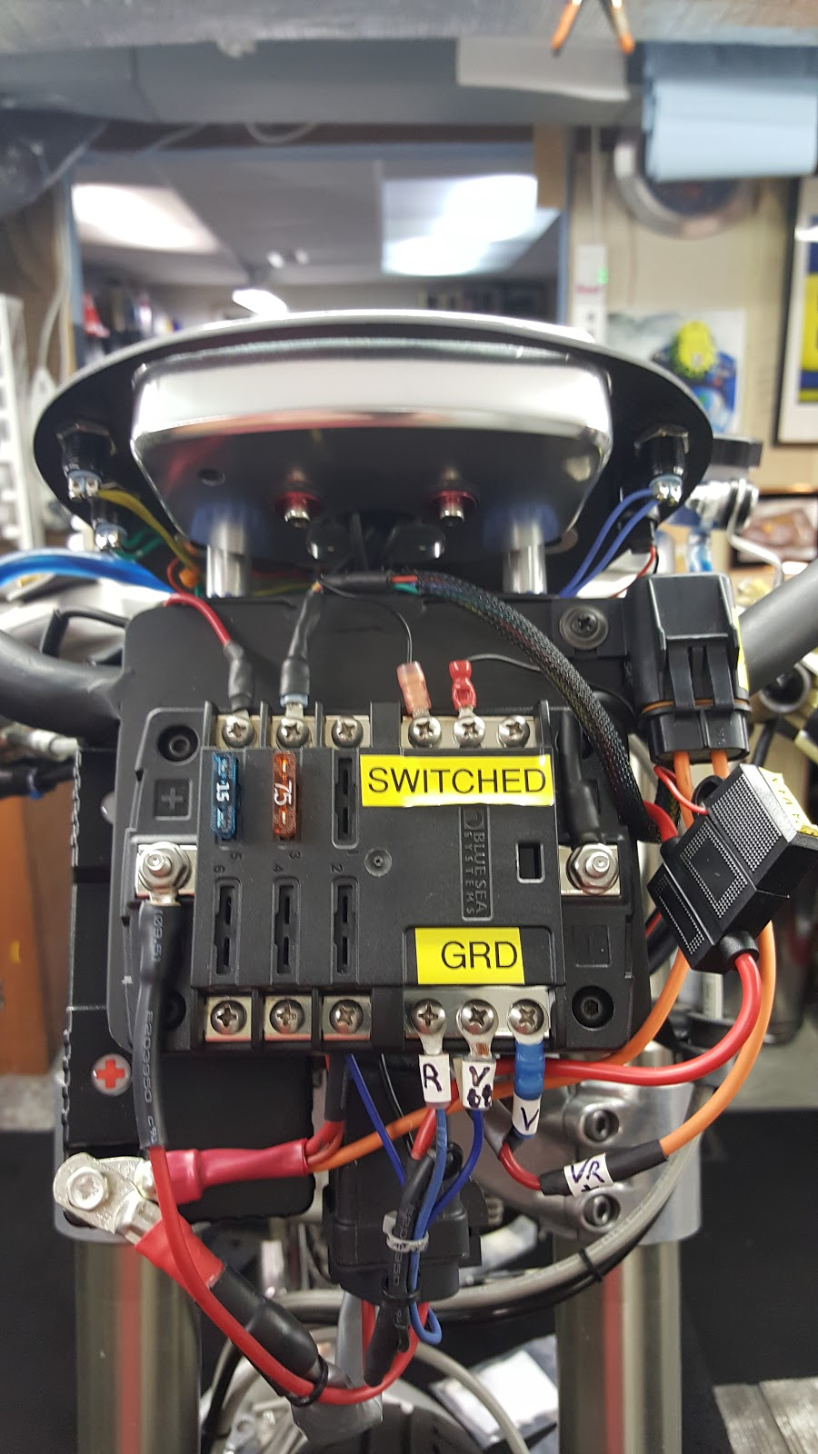 Kbike Slipper Clutch Install Bitsa Bike Ducati 1098 Fuse Box Battery Block Relays Voltage Regulatordash Wiring And Lights