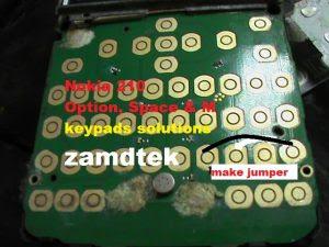 Nokia 210 Option, space, M & P keypad solution
