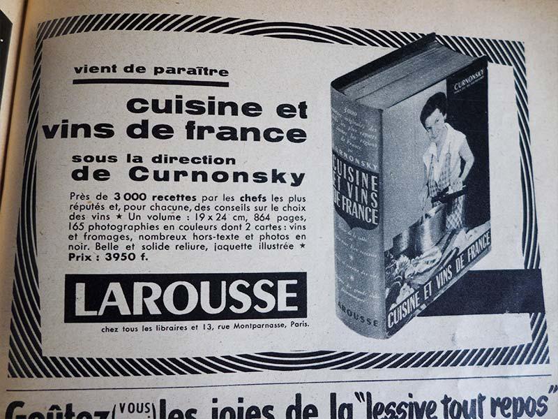 Ancienne publicité Larousse années 50