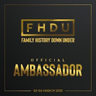 Thrilled to be an Ambassador at Family History Downunder