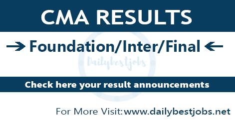 CMA Result 2018