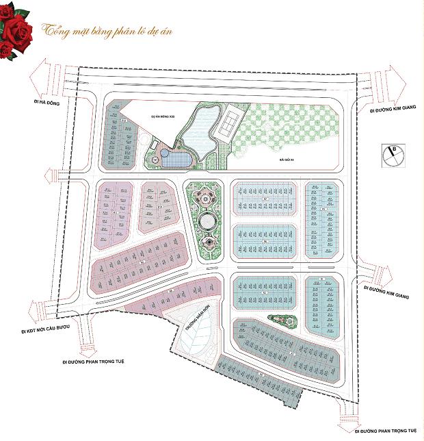 mặt bằng tổng thể the eden rose
