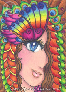 WIP butterfly girl #JennyLuanArt