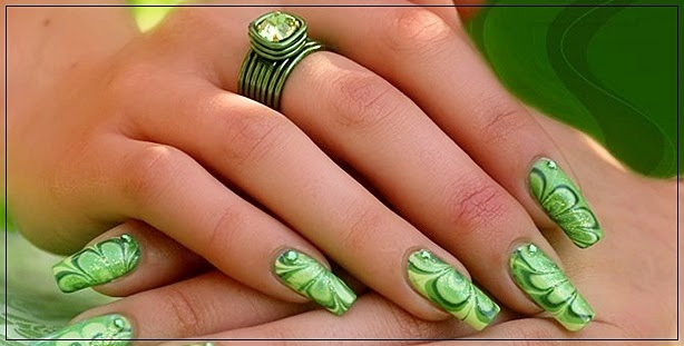 Go Green Nail Art