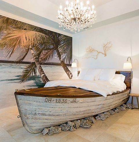 Recycled Boat Bed Master Bedroom