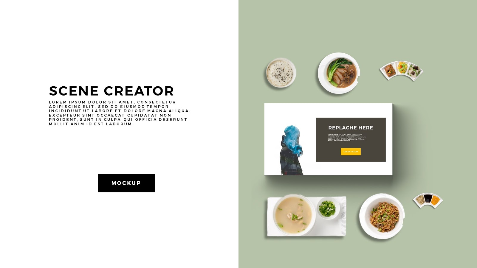 Free Food Scene Creator PowerPoint Template - Infographicon