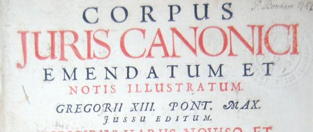 Corpus iuris canonici y Derecho romano