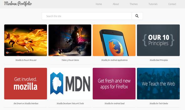 Template Portofolio Blogger Modern memiliki tata letak 100% sepenuhnya responsif dan memiliki desain UI bersih