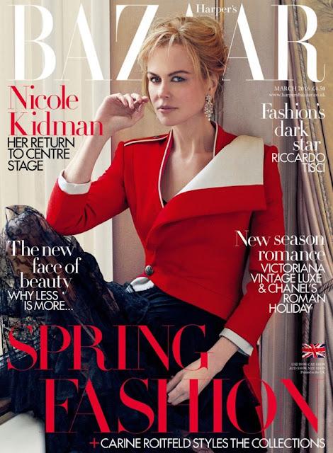 Nicole Kidman for Harper's Bazaar UK March 2016