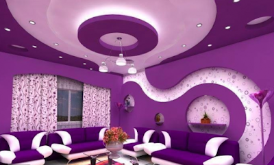 modern gypsum board design for false ceiling and wall for living room hall