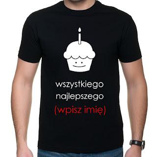 Koszulka urodzinowa z imieniem
