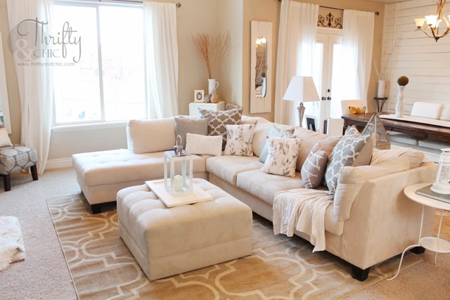Thrifty and Chic - DIY Projects and Home Decor - inexpensive rugs for living room