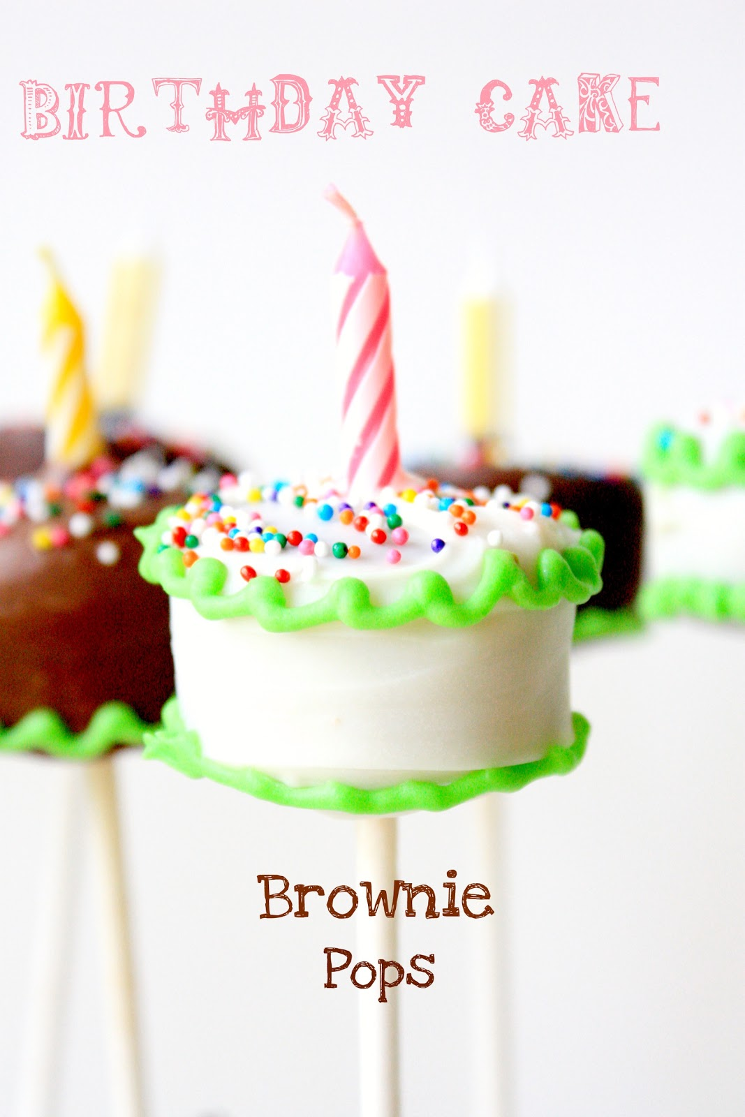 Recipes 'n Such: Birthday Cake Brownie Pops