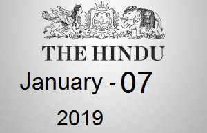The Hindu Newspaper Today 07 January 2019 Download PDF