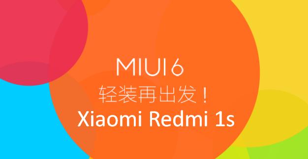 Xiaomi Redmi 1s MIUI 6 (Kitkat)