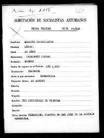 Agrupación de socialistas asturianos Manuel Alberdi Teniente de Infantería Exílio