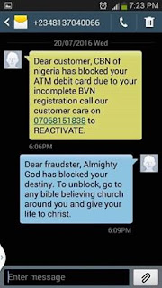 This boys won't allow someone to rest for them..I keep on getting this kind of SMS on my phone!!! criminals!!!!plz look for another customer not me!!!plz be careful of this kind of SMS they are fraudsters!!local fraudsters!!! Be careful