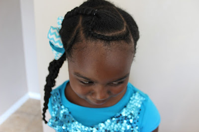 Threading and Cornrow Hairstyle | Natural Hair Kids