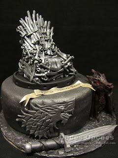 bolo aniversário Game Of Thrones dragão