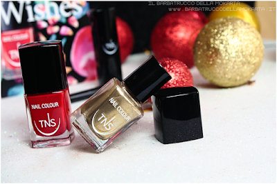 nailart  rosso oro best wishes TNS cosmetics nails  red gold Christmas