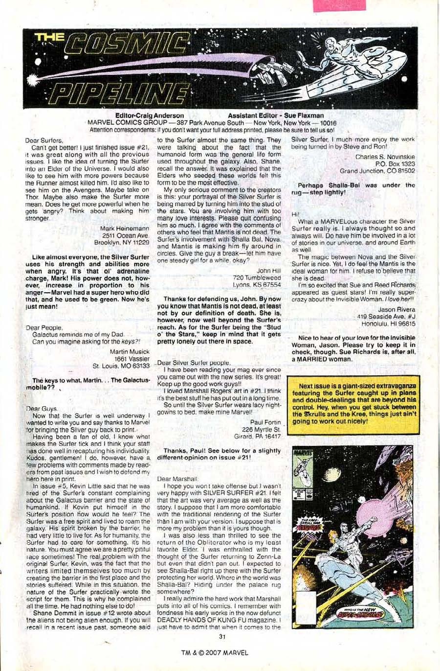 Read online Silver Surfer (1987) comic -  Issue #24 - 33