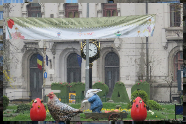 Easter decorations in Bucharest, Romania