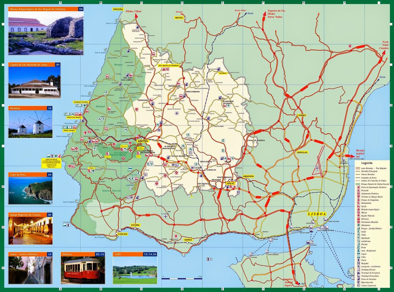 linha de sintra mapa Mapas de Sintra   Portugal | MapasBlog linha de sintra mapa