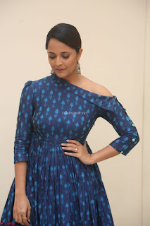 Anchor Anasuya in a Blue Gown at Jai Lava Kusa Trailer Launch ~  Exclusive Celebrities Galleries 044.JPG