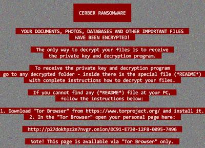 Cerber Ransomware Virus