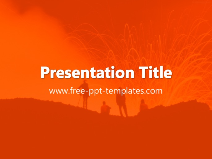 Volcano ppt template toneelgroepblik Image collections
