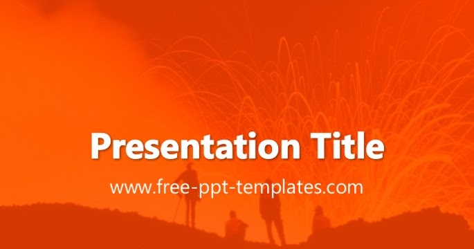 volcano ppt template