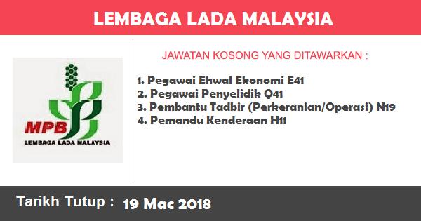 Jawatan Kosong di Lembaga Lada Malaysia