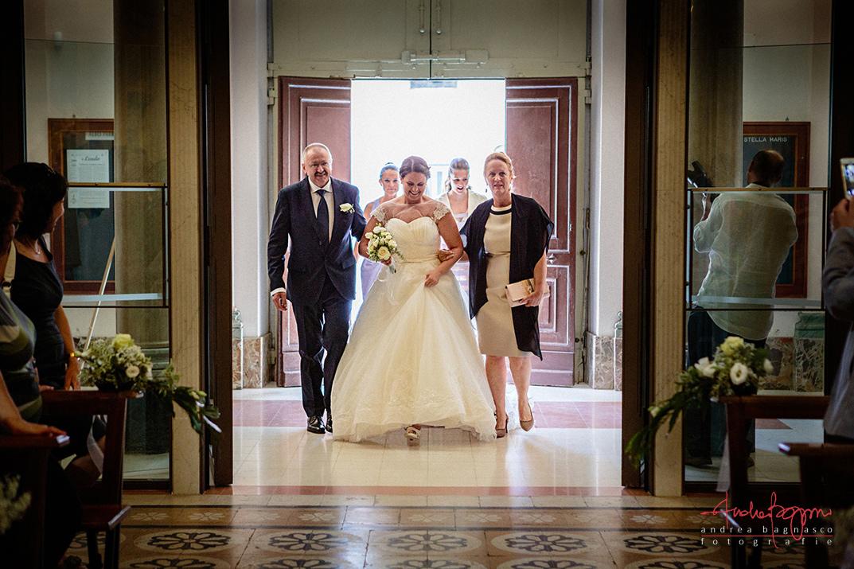ingresso sposa matrimonio Stella Maris Albisola
