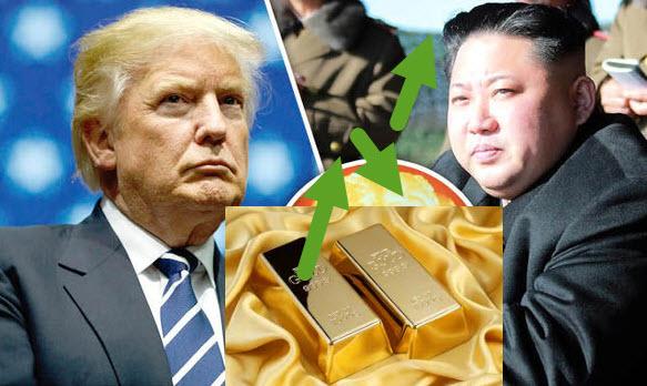 El oro se dispara tras tensiones entre EE. UU. y Corea del Norte
