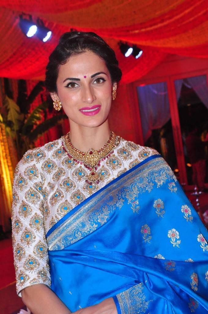 Fashion Designer Shilpa Reddy Photos In Blue Saree