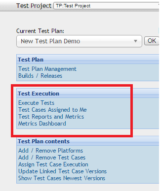 Testlink - Metrics Dashboard