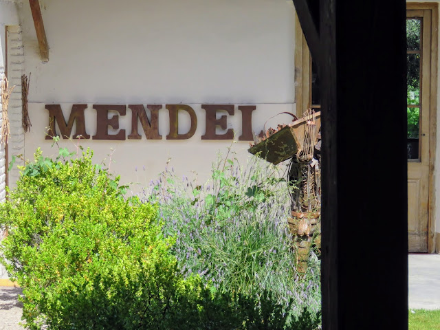 Sign for Mendel winery near Mendoza Argentina
