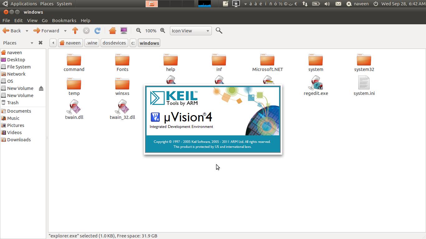 invectorindia: Keil Uvision 4 on Ubuntu