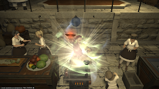 Cooking activity in Final Fantasy 14