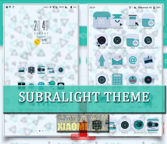 MIUI Theme Subralight Mtz For Xiaomi Update Material Design