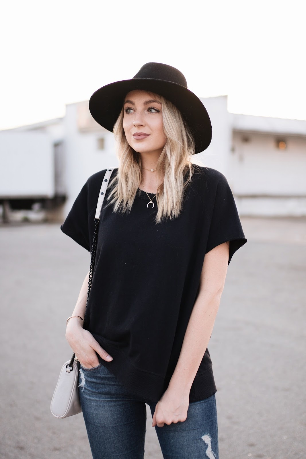 Free People short sleeve sweatshirt