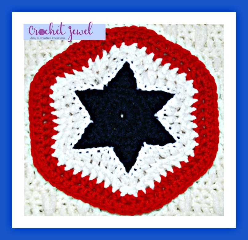 Amys Crochet Creative Creations Crochet 4th Of July Star Potholder